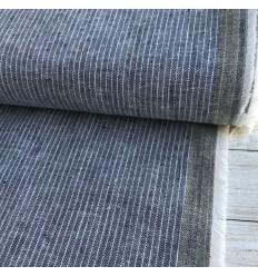 Cotton Linen Navy Stripes