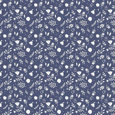 Lightweight denim Flowers - Katia Fabrics