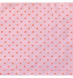 Pink Coral Swiss Dot - Katia Fabrics