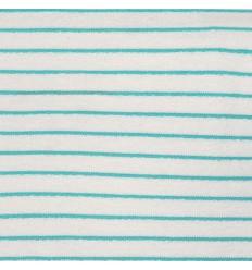 Sweat Towel Stripes Aqua - Katia Fabrics