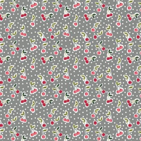 Coton Cherry - Gris