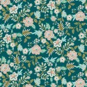 Paisley cotton - Teal