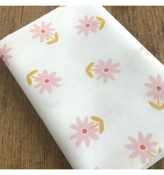 Coated cotton Flowers - White