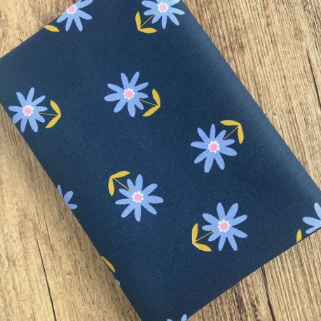 Coated cotton Flowers - Navy