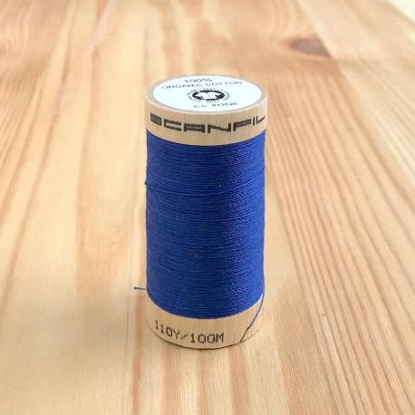 Bobine de Fil 100% Coton Bio - Bleu Royal